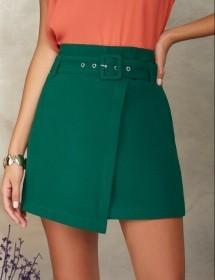 Shorts saia fivela