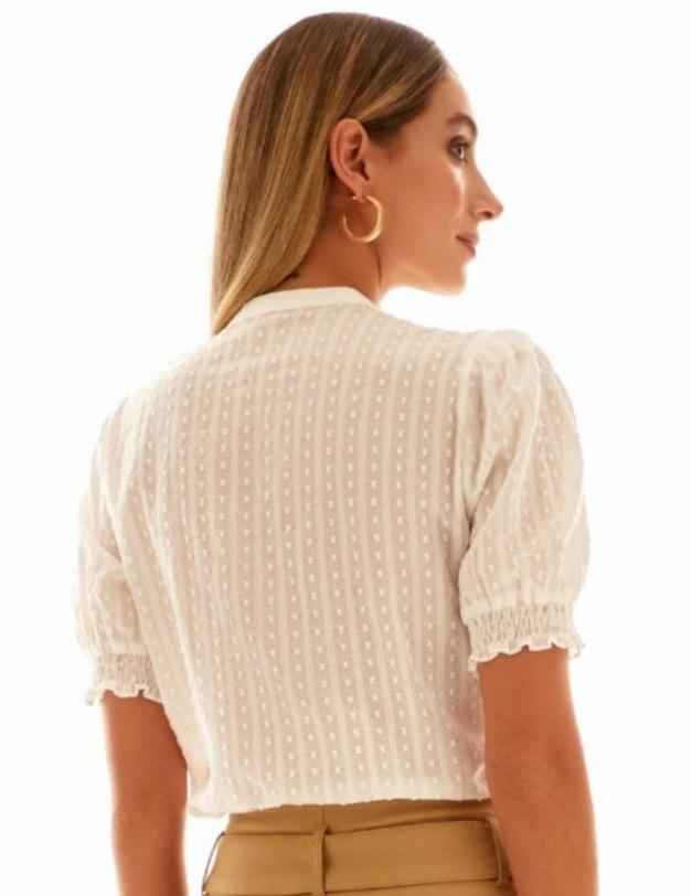 Blusa algodão maquinetado