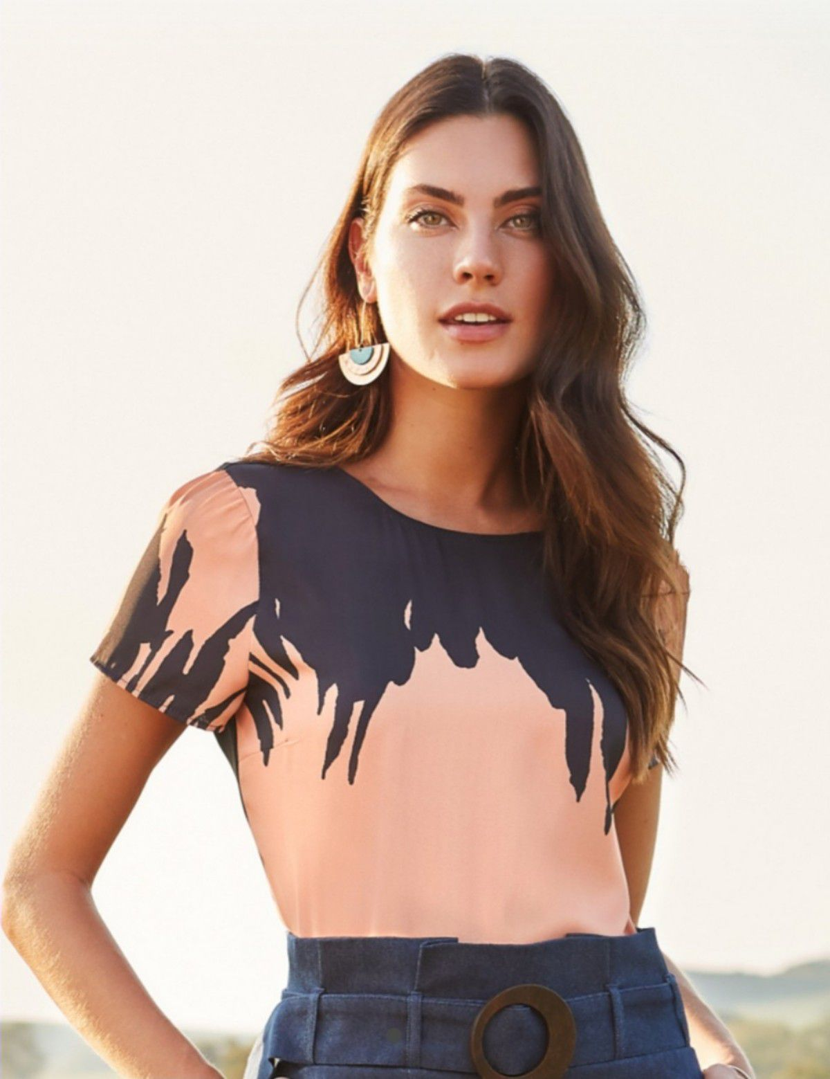 48606b85f5 Blusa crepe print mancha - RIX Fashion Store