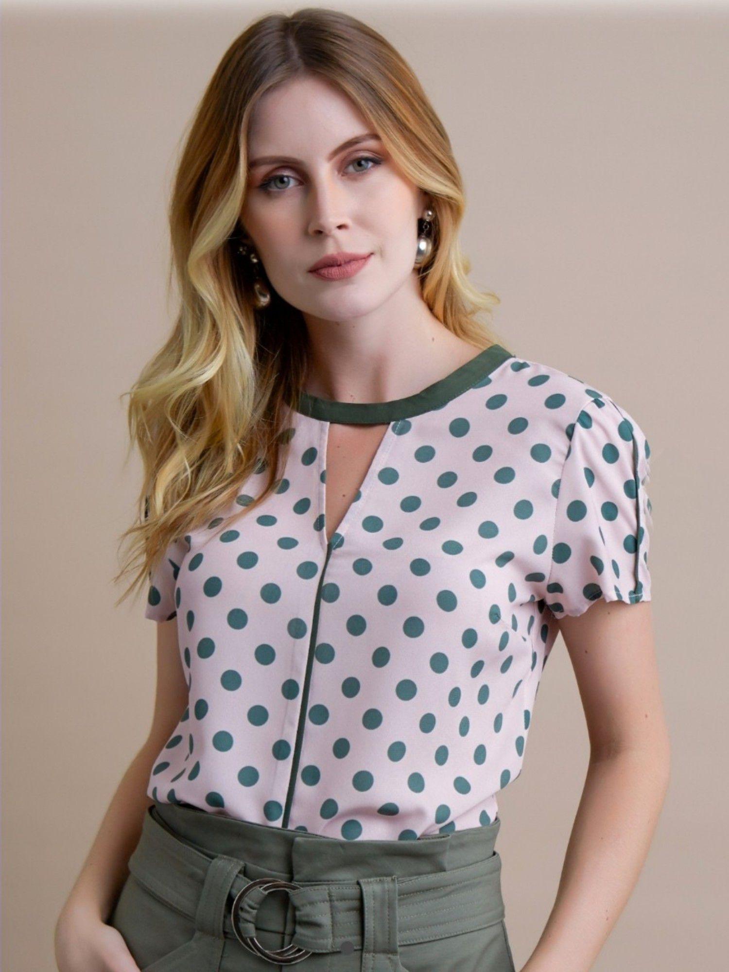 20c6eba405 Blusa crepe print poa vivos - RIX Fashion Store