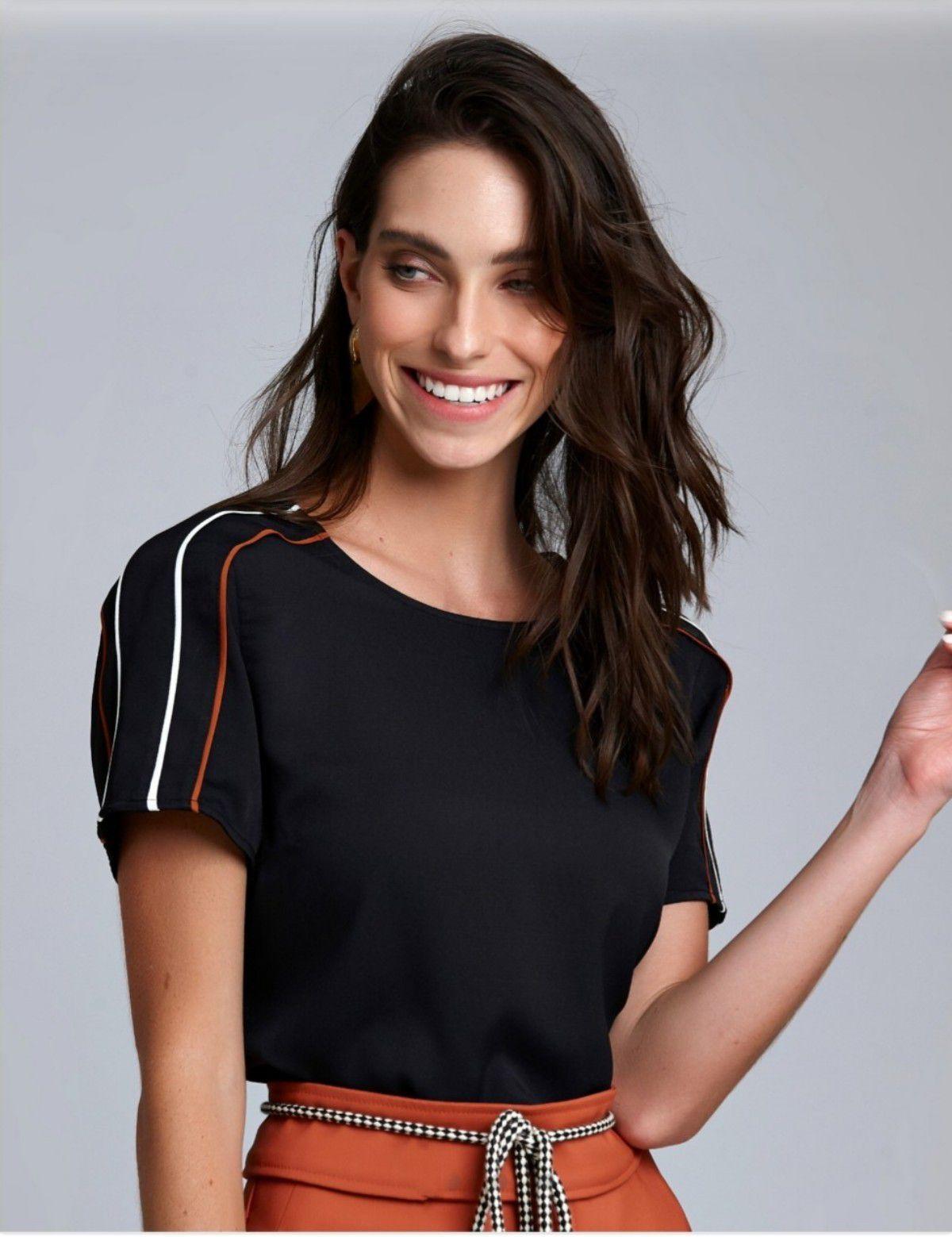 3c32373531 Blusa Crepe vivo mangas - RIX Fashion Store