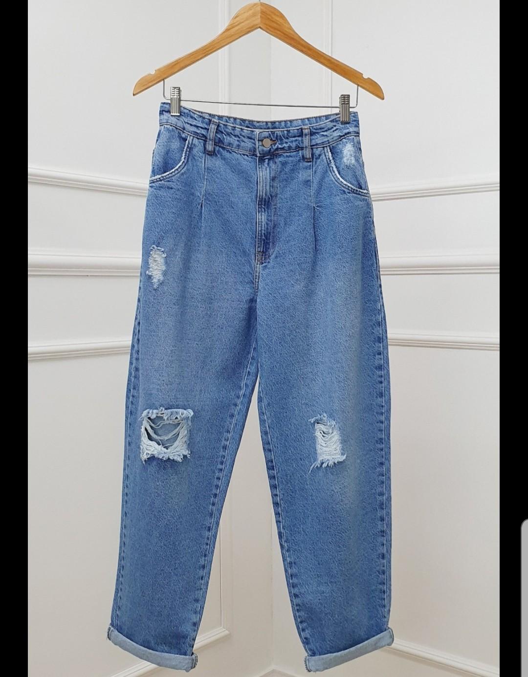Calça slouchy  jeans destroyer