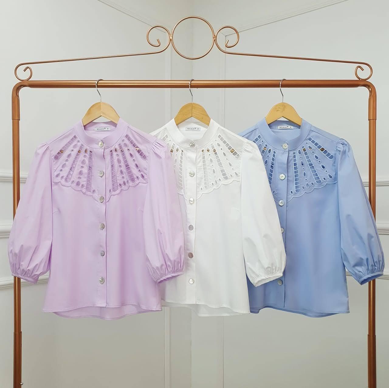 Camisa tricoline bordado pala