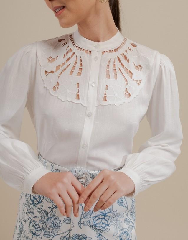 Camisa viscose bordado pala