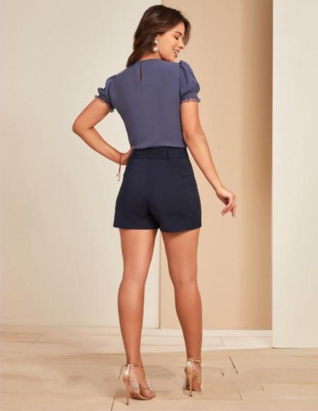 Shorts alfaiataria cinto amarração