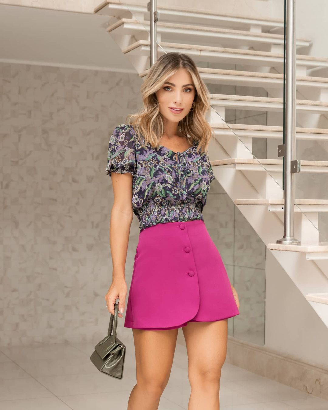 Top cropped floral