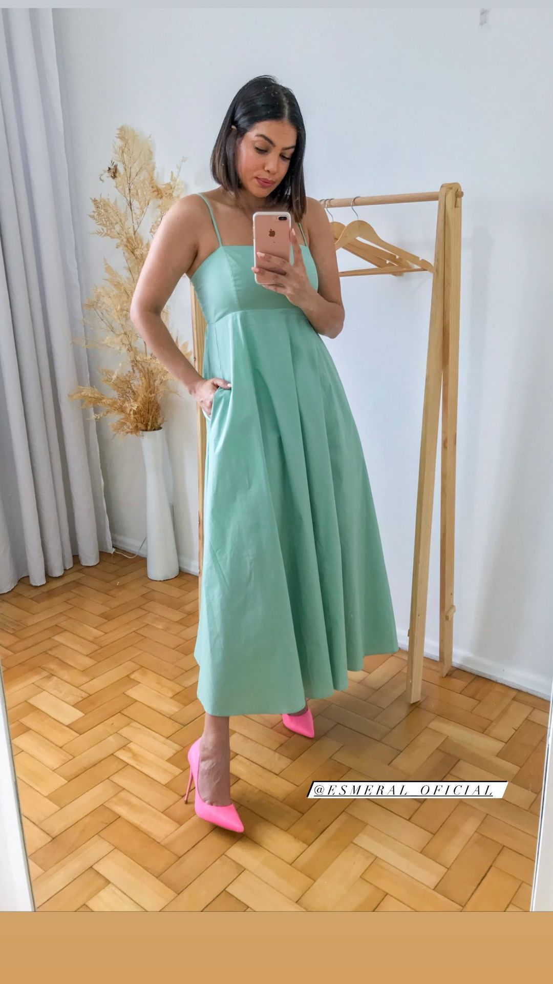 Vestido tricoline Esmeral