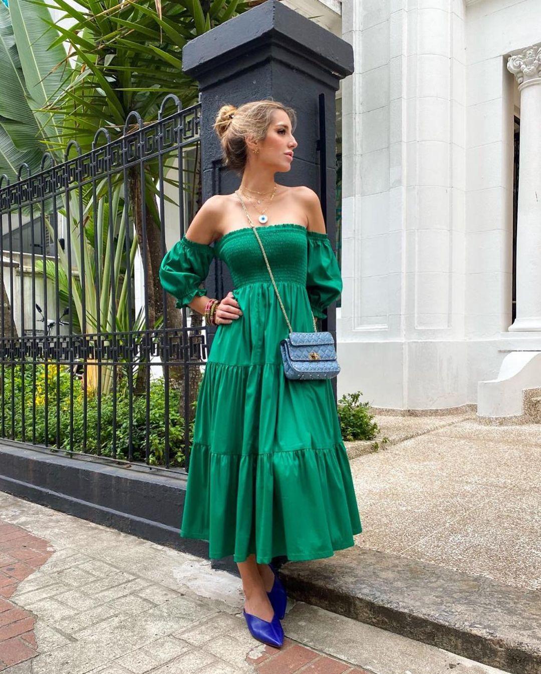 Vestido tricoline lastex