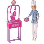 Boneca Lucy Chef com Acessórios Braskit