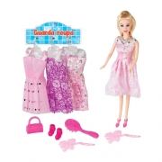 Boneca Lucy Fashion com Acessórios Braskit