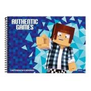 Caderno de Desenho 96 Folhas - Authentic Games