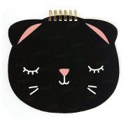 Caderno Espiral 60 Folhas - Meow Preto