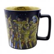 Caneca Cerâmica Cavaleiros Zodíaco Ouro Saint Seiya 400ml Zona Criativa