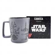 Caneca Cerâmica Naves Star Wars 400ml Zona Criativa