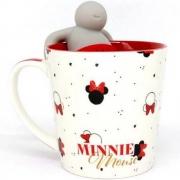 Caneca com infusor para chá Minnie Mouse 350ml - Zona Criativa