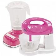 Conjunto Liquidificador Batedeira Brinquedo Infantil Polipac