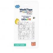 Fita Adesiva Decor Washi Tape Para Colorir Doodles LeoArte