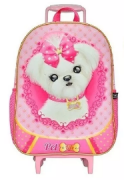 Mochila Rodinha Pet Girl Eva Pink