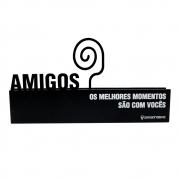 Placa Amigos Porta Retrato 19X6CM