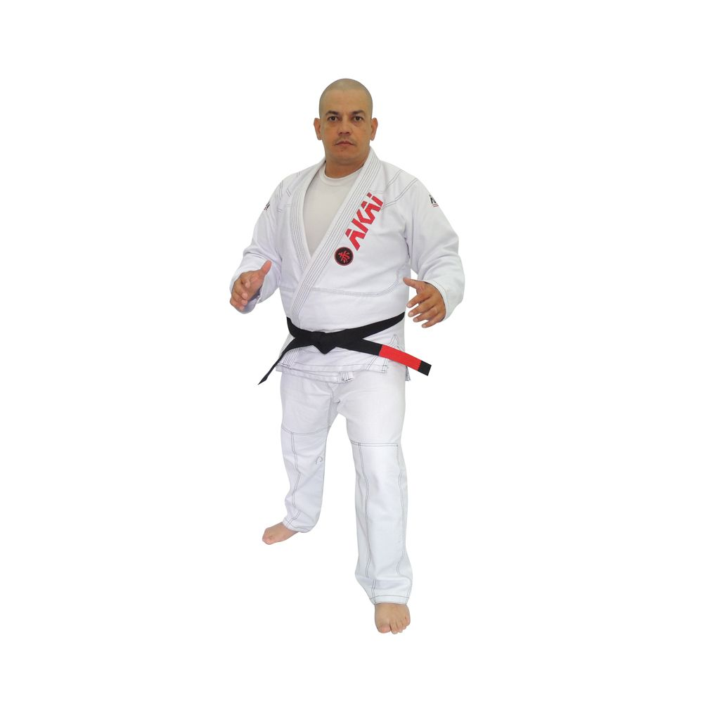 Kimono Jiu Jitsu Akai BJJ Profissional - Trançado Branco