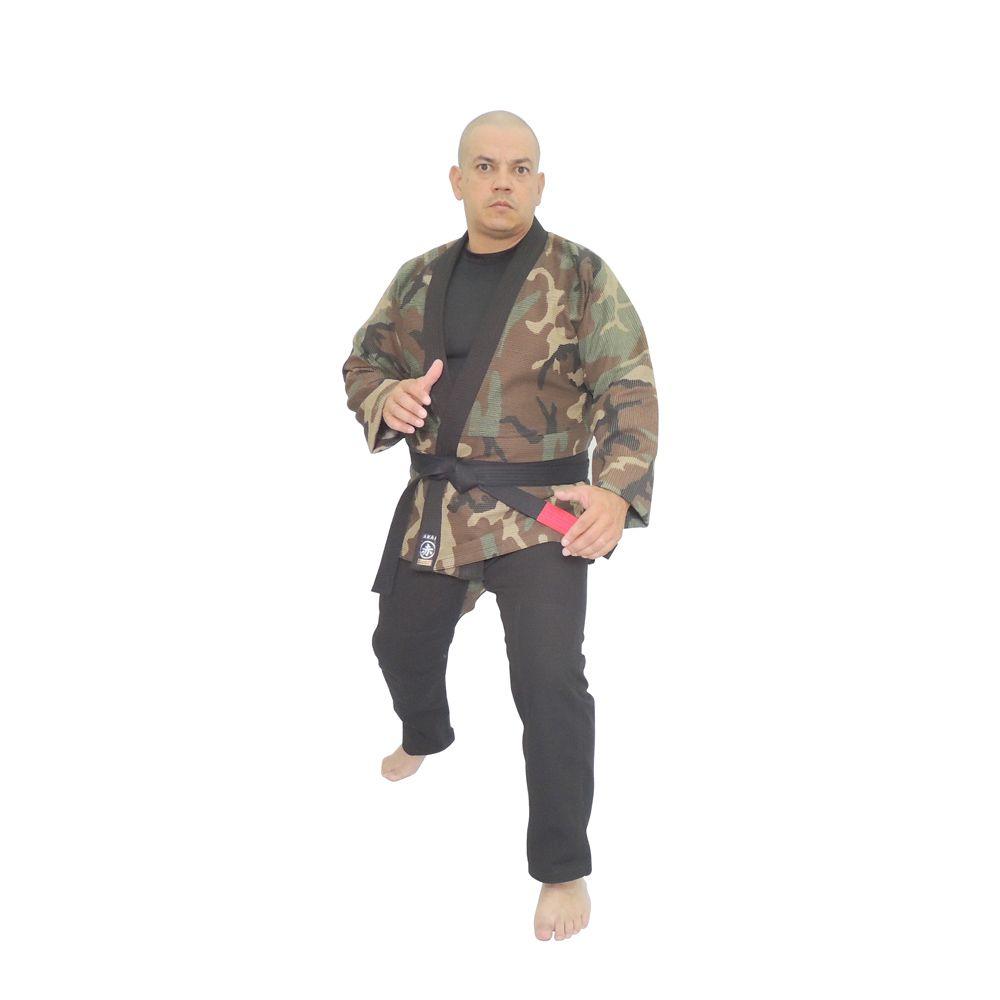 Kimono Jiu Jitsu Akai BJJ Profissional - Trançado Camuflado