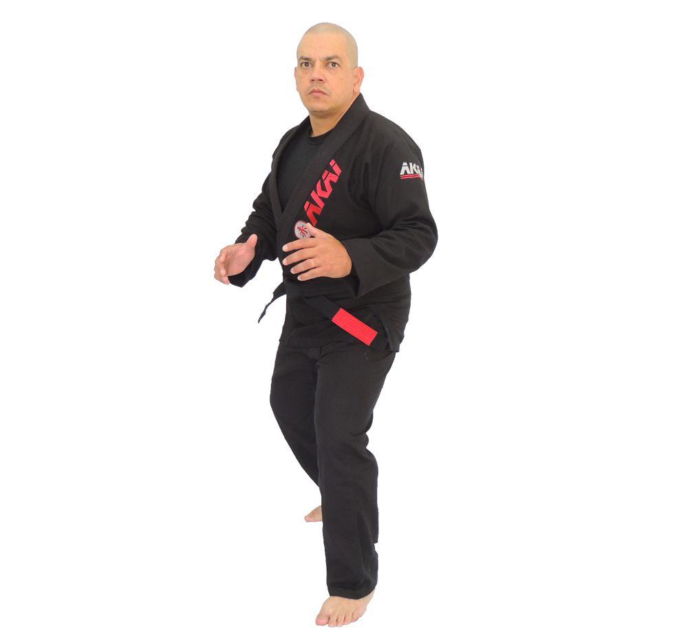 Kimono Jiu Jitsu Akai BJJ Profissional - Trançado Preto