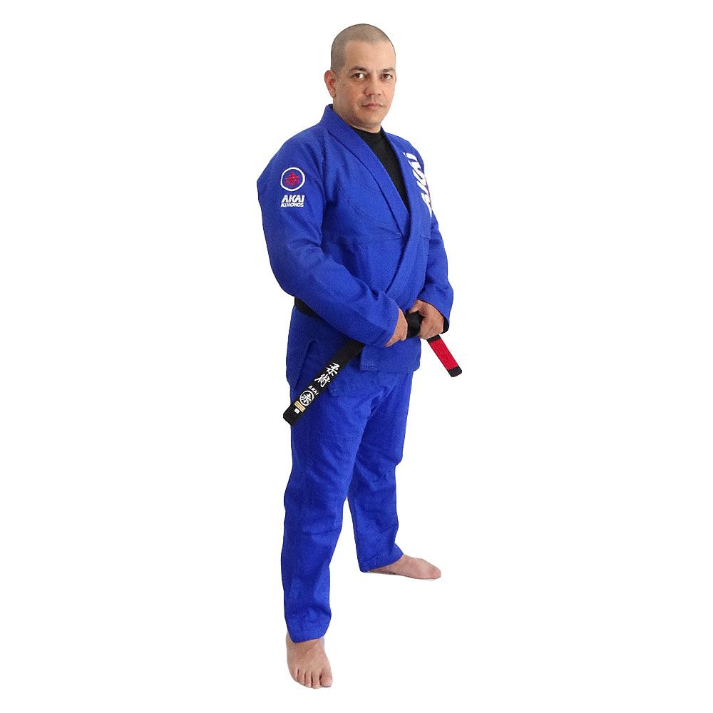 Kimono Jiu Jitsu AKAI LIGHT BJJ - Trançado Azul com Faixa Roxa