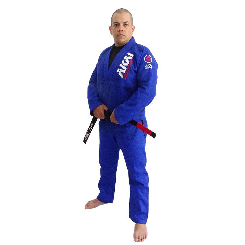 Kimono Jiu Jitsu Akai BJJ - Trançado Azul