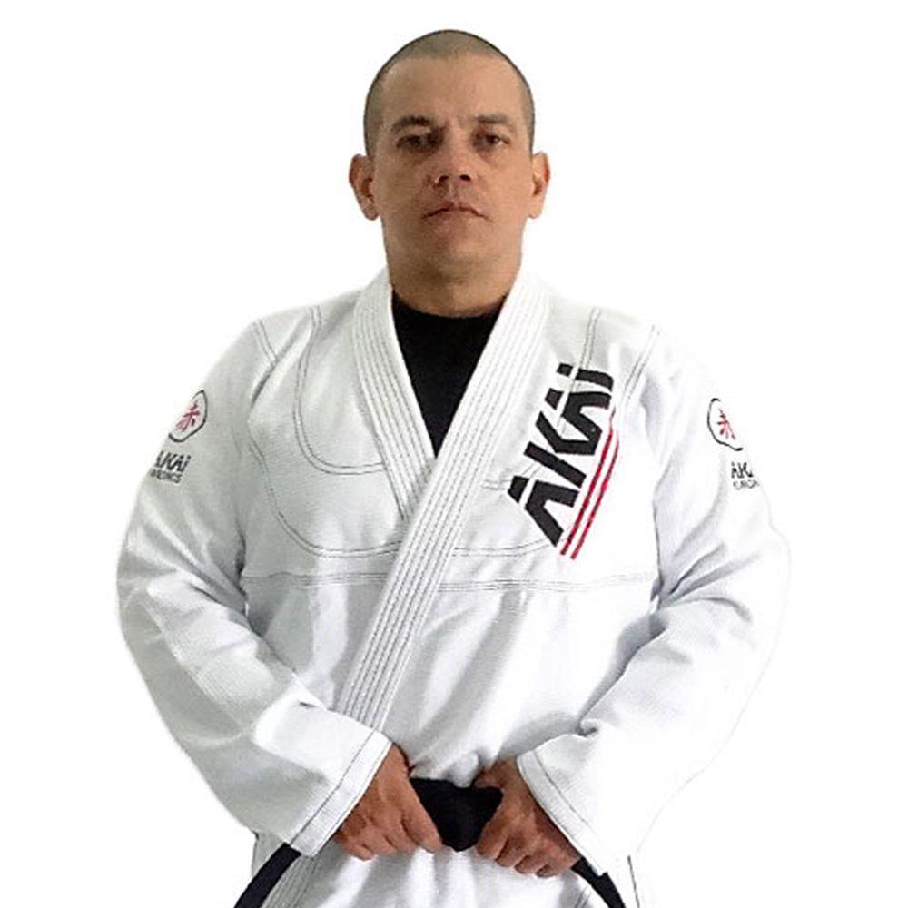 Kimono Jiu Jitsu Akai BJJ - Trançado Branco