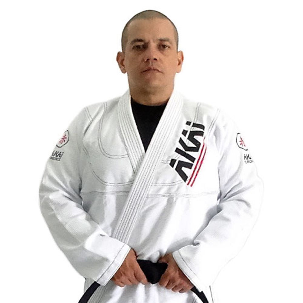 Kimono Jiu Jitsu AKAI LIGHT BJJ - Trançado Branco