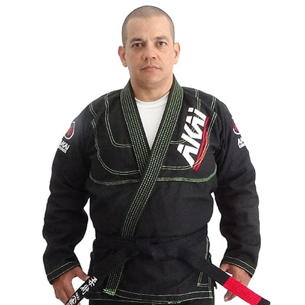 Kimono Jiu Jitsu Akai BJJ - Trançado Preto