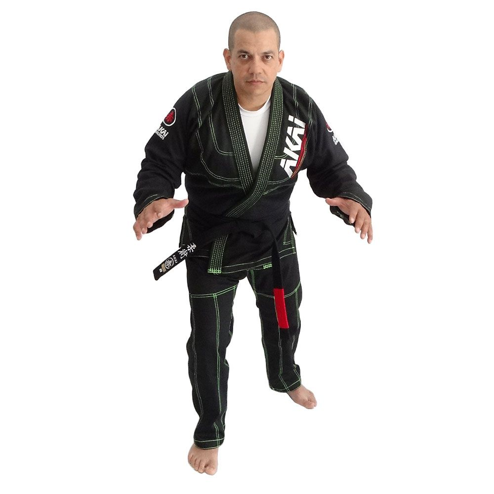 Kimono Jiu Jitsu Akai Pro BJJ - Trançado Preto