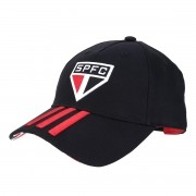 BONÉ SÃO PAULO FC ADIDAS preto aba curva