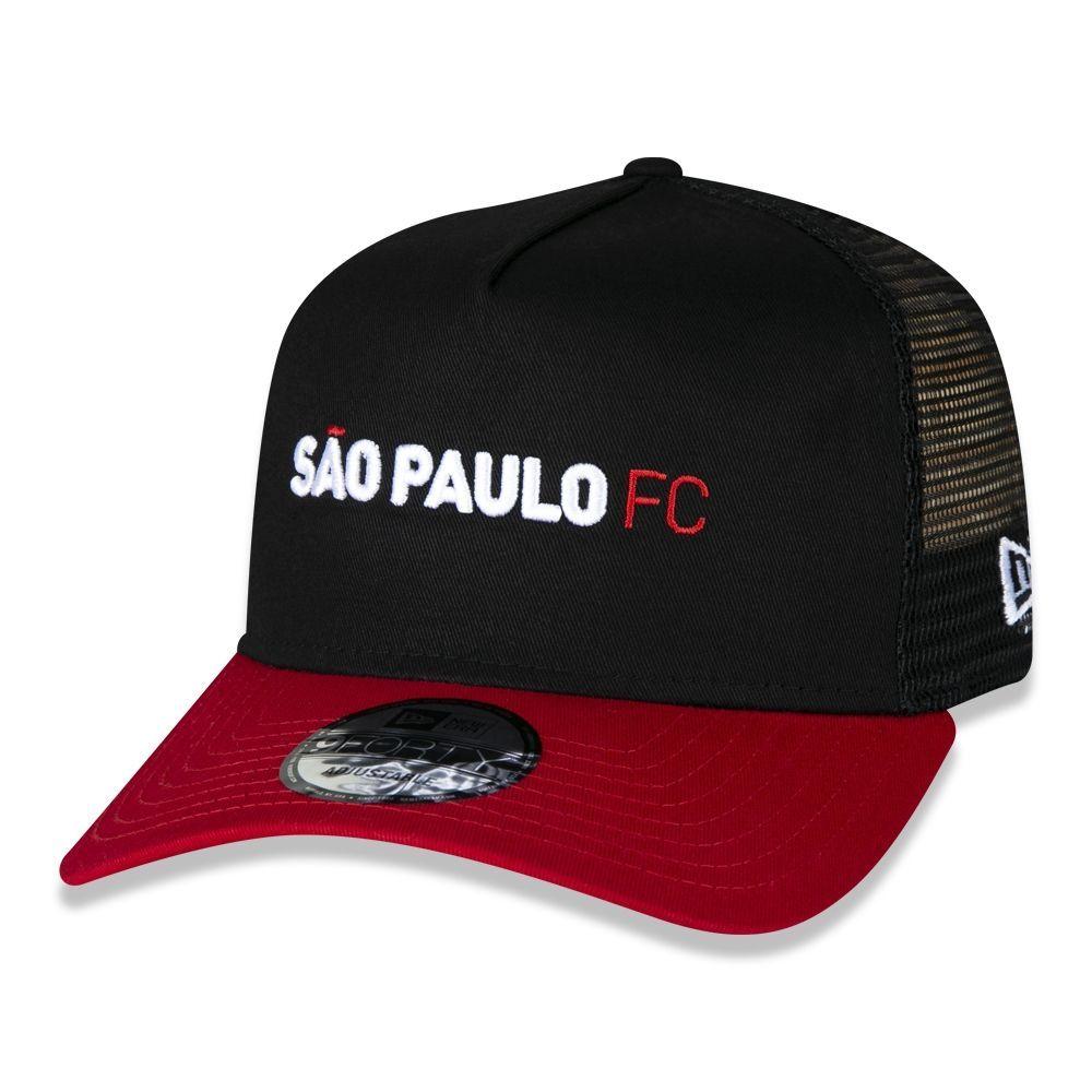 BONÉ SÃO PAULO FUTEBOL CLUBE 9forty ABA RETA PRETO NEW ERA