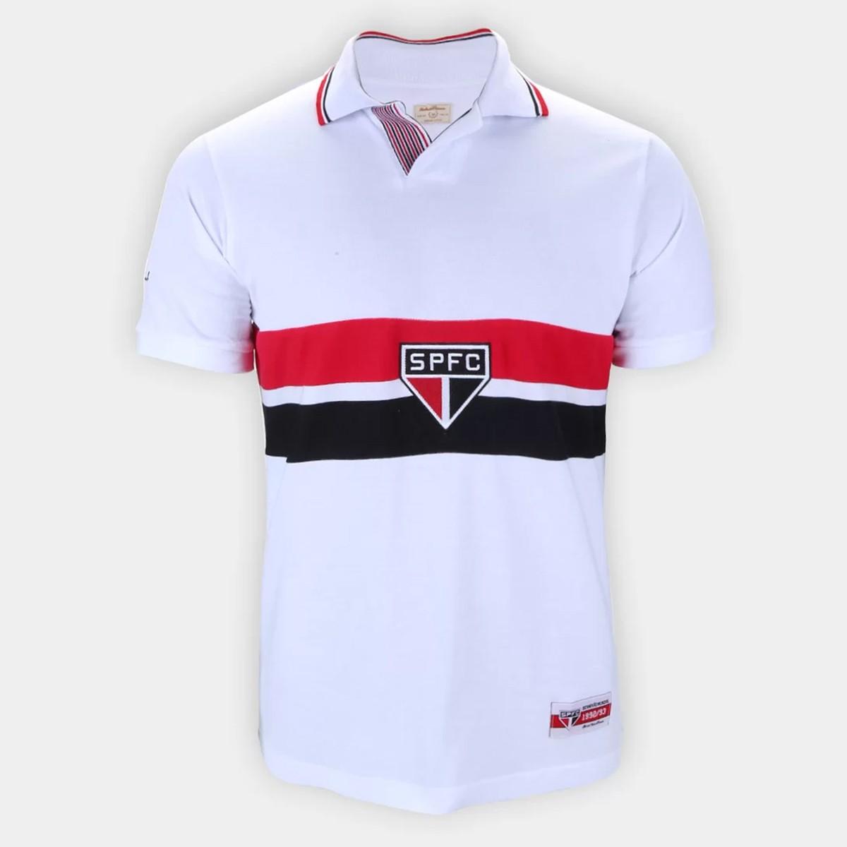 CAMISA RETRÔ SÃO PAULO FC BI MUNDIAL MASCULINA