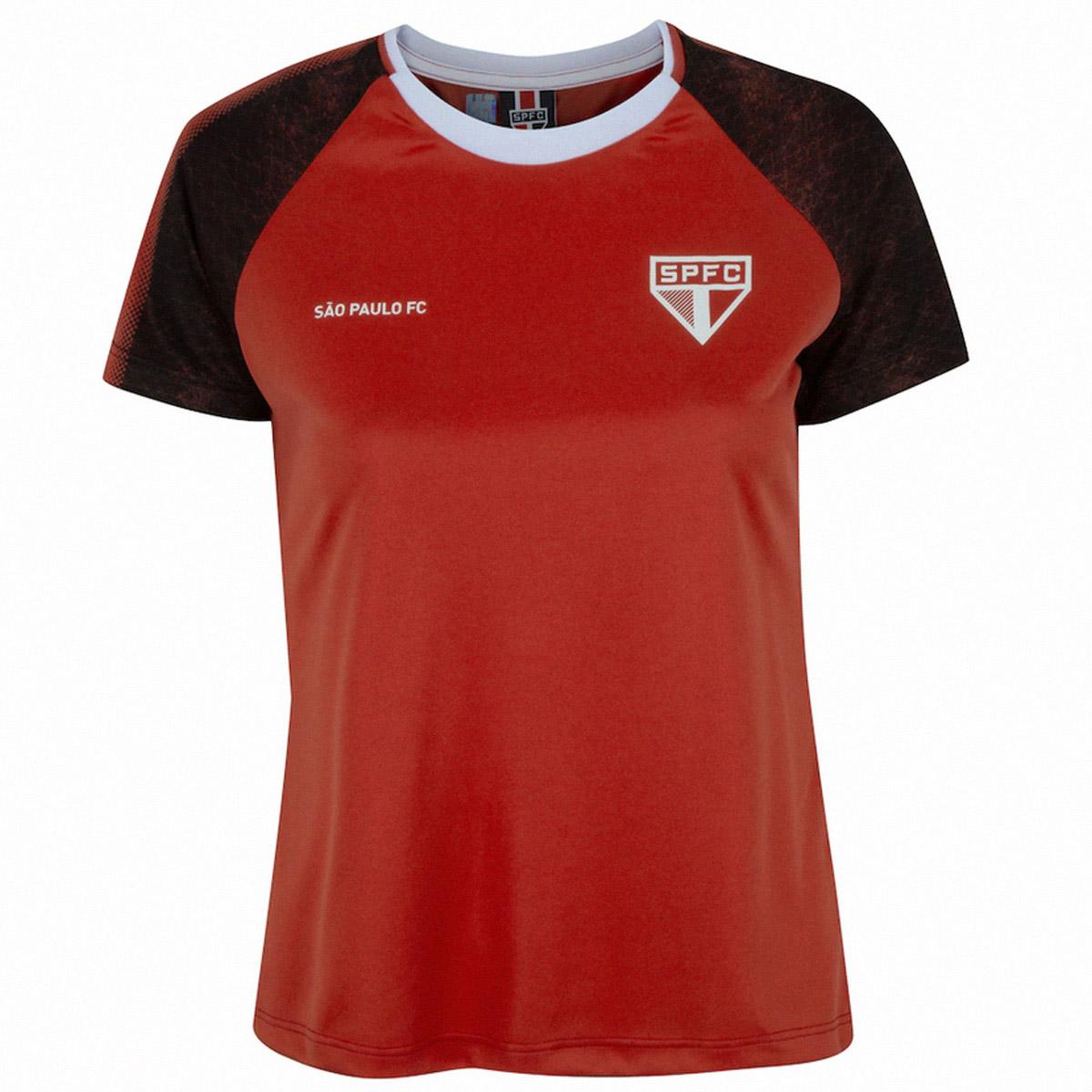 CAMISETA SÃO PAULO FC CLIMBER FEMININA VERMELHA