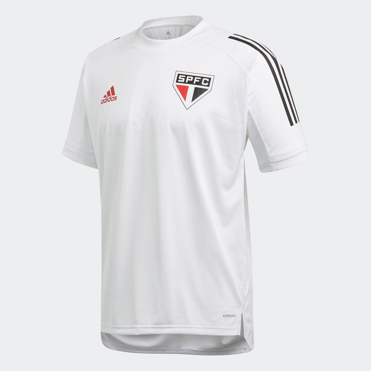 CAMISETA SÃO PAULO FC TREINO ADIDAS BRANCA 2020