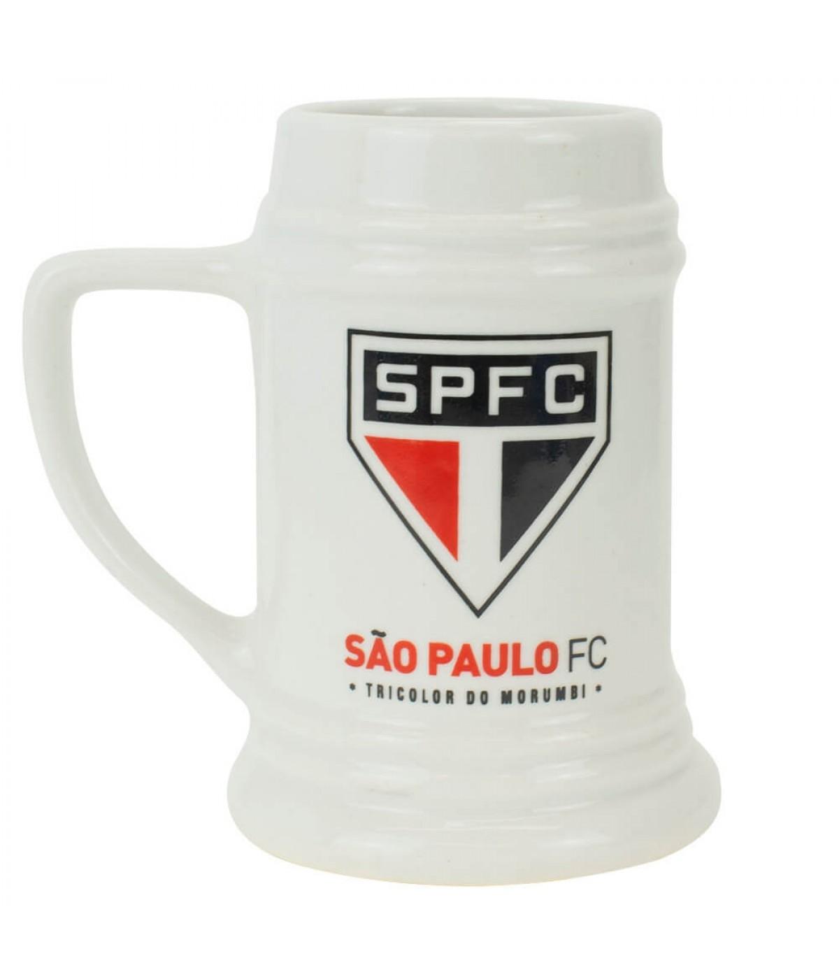CANECA PORCELANA BRANCA SÃO PAULO FC