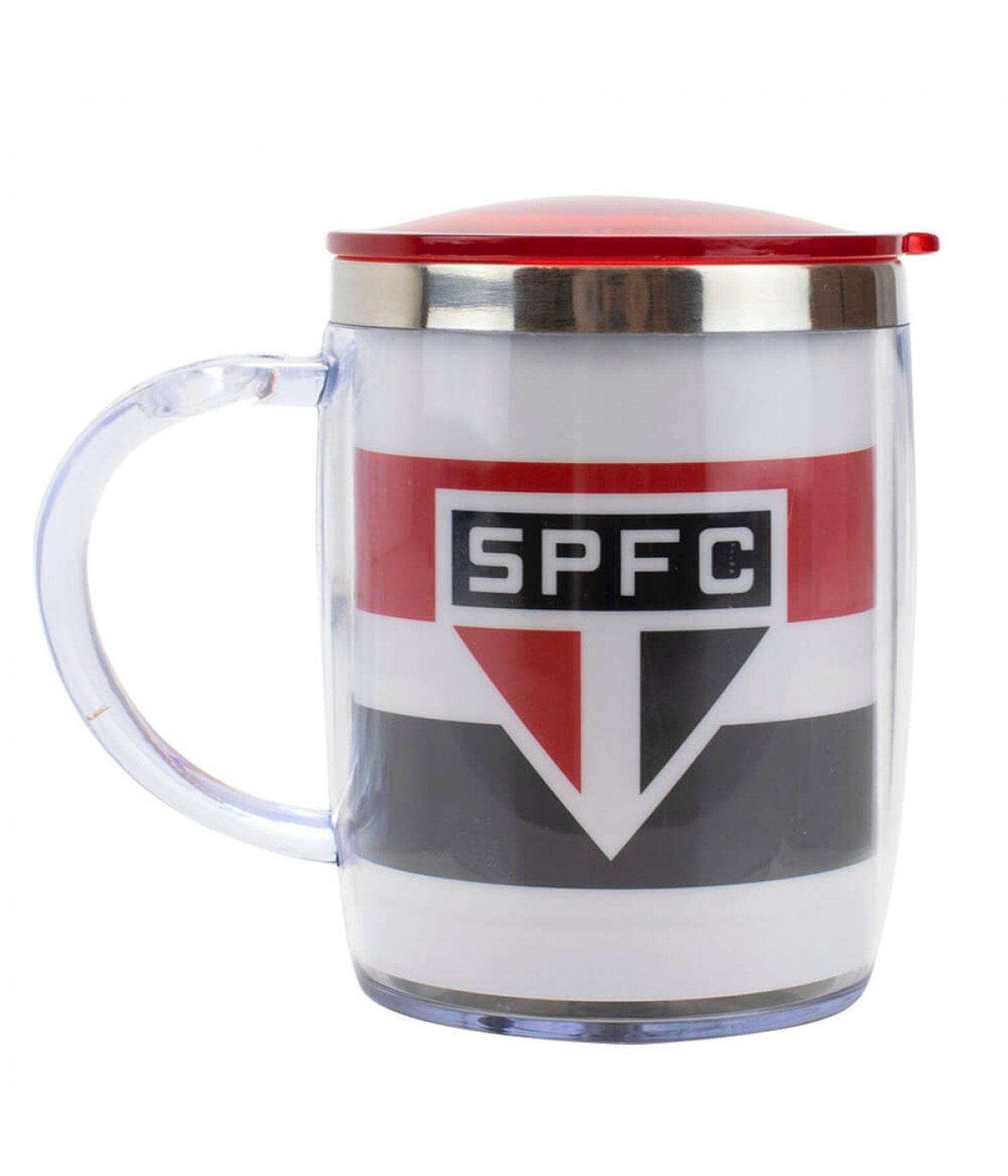 CANECA TÉRMICA COM TAMPA SÃO PAULO FC