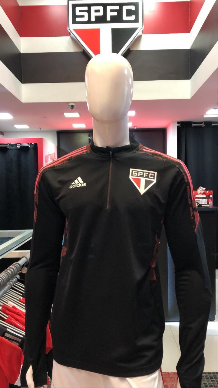 MOLETOM TREINO SÃO PAULO FC ADIDAS MASCULINO PRETO 21/22