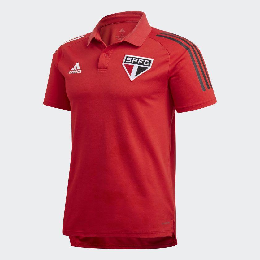 POLO SÃO PAULO FC ADIDAS VERMELHA 2020