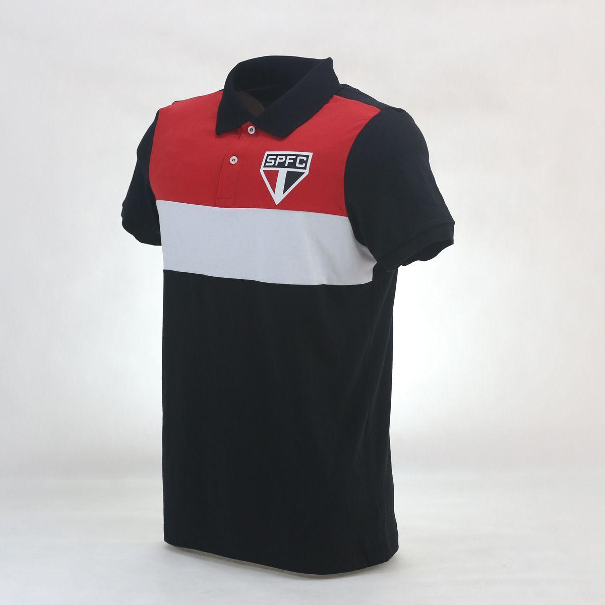 4c033440e7a3ea POLO SÃO PAULO RECORTES PRETA - Loja São Paulo FC
