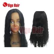 Peruca Wig Bio Fibra Modelo Deep Wave Cor preta