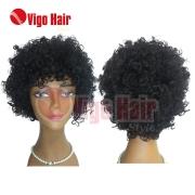 Peruca Wig Cabelo Humano Modelo Afro Lady cor: castanho
