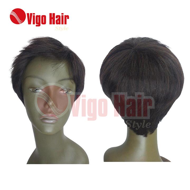 Peruca Wig Cabelo Humano Modelo Sassy Lady  cor castanha
