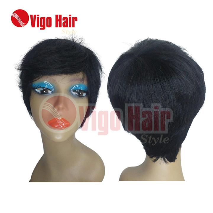 Peruca Wig Cabelo Humano Modelo Sassy Lady cor preta