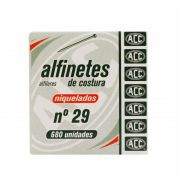Alfinetes Niquelados 680 unidades n° 29 - ACC