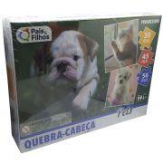 Quebra Cabeça Progressivo 30 45 56 Peças Pets - Pais & Filhos