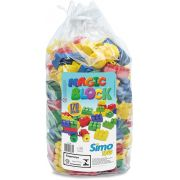 Sacola com 170 blocos coloridos Magic Block -  Simo Toys
