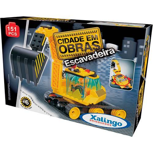 Blocos de Encaixe Cidade em Obras Escavadeiras 151 pçs - Xalingo Brinquedos